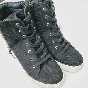 Steve Madden Shoes - Steve Madden Lynn Girls High Top Double Zip Shoes